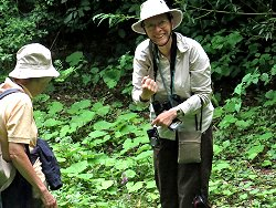 Janetta (left) and Kaye, delighted at finding Purple Loosestrife!