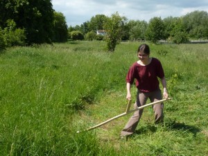 Have a go at the green way of mowing grass - scything