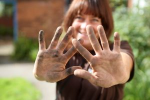Ecotherapy hands