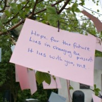 haiku: Hope for the future Lies in changing the present It lies with you, me