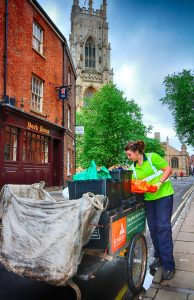 Recycling Co-ordinator Sam at Bootham (by Lewis Outing)