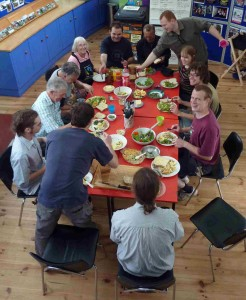 Our Eco-Active volunteers enjoying zero-mile lunch from Jean