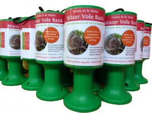 Water Vole Banks donation boxes