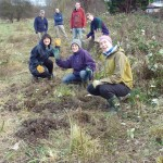 Planting a hedge on Eco-Active Day