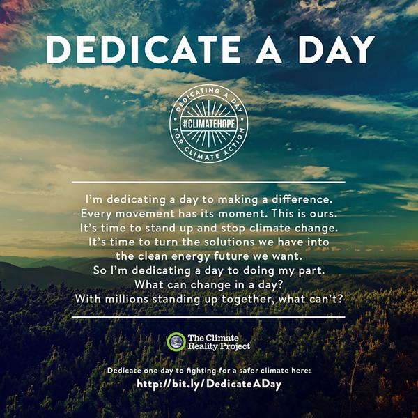 Dedicate a day to climate action