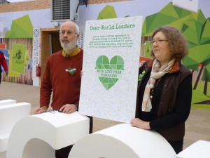 Message delivered to COP21 from Yorkshire: Dear world leaders, please sign a strong agreement on climate change to limit rise in global temperatures to below 2 degrees and we will work at the regional, city and local level in Yorkshire to help achieve this.
