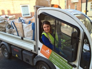 Recycling Co-ordinator Sam Taylor