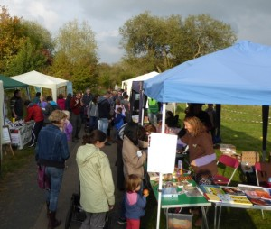 Stalls in the nature reserve