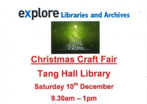 Poster for christmas craft fair