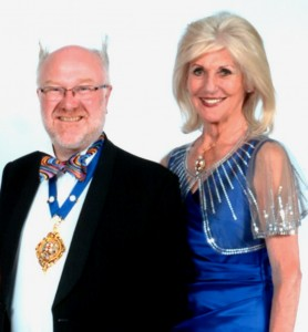 Lord Mayor Dave Taylor and Lady Mayoress Susan Ridley dressed for the ball