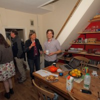 Jovial atmosphere at 2015 York Open Eco Homes