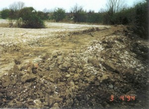 A view of St Nicks during the clay capping and before main paths were laid in 1994.