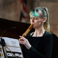 Charlotte Pugh playing treble recorder (by Lewis Outing)