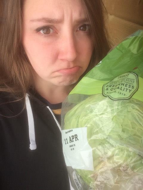 A grumpy recycling coordinator with her un-purchasable veg...