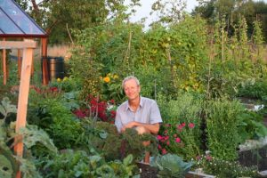 Charles In Homeacres garden, 2013. Photo by Stephanie Hafferty.