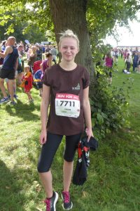 Chloe after the 10k run