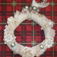 wreath made by Liz and daughter