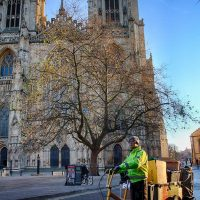 Recycling Officer David by the Minster (by Lewis Outing)