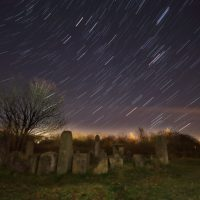StarTrails over the Dragon Stones (by Lewis Outing)