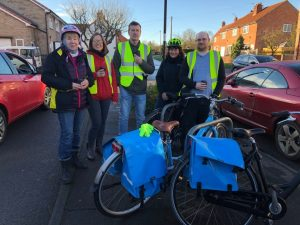 Ecotherapy ride to Dunnington, Dec 2017