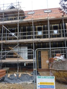 Passivhaus in Fulford under constructionj