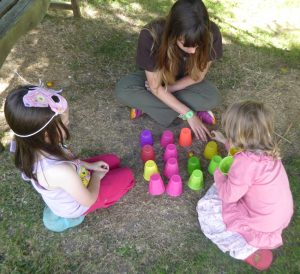 2017 Nature Explorers playing a memory game