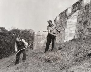 Scything of the walls in 1972, from The Press archive