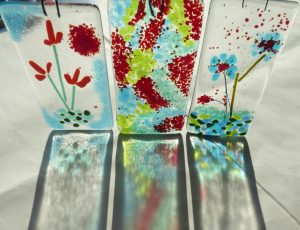 Fused glass sun catchers