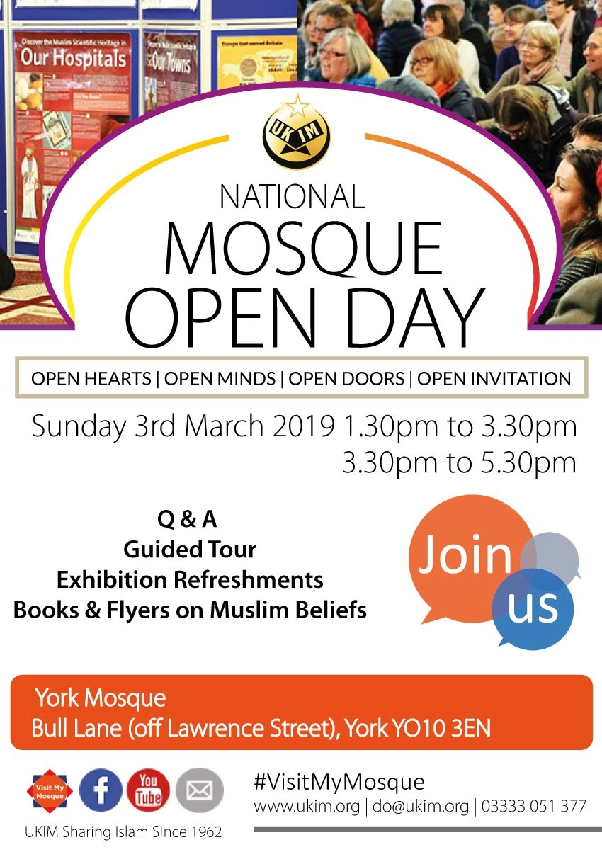 Mosque Open Day flyer
