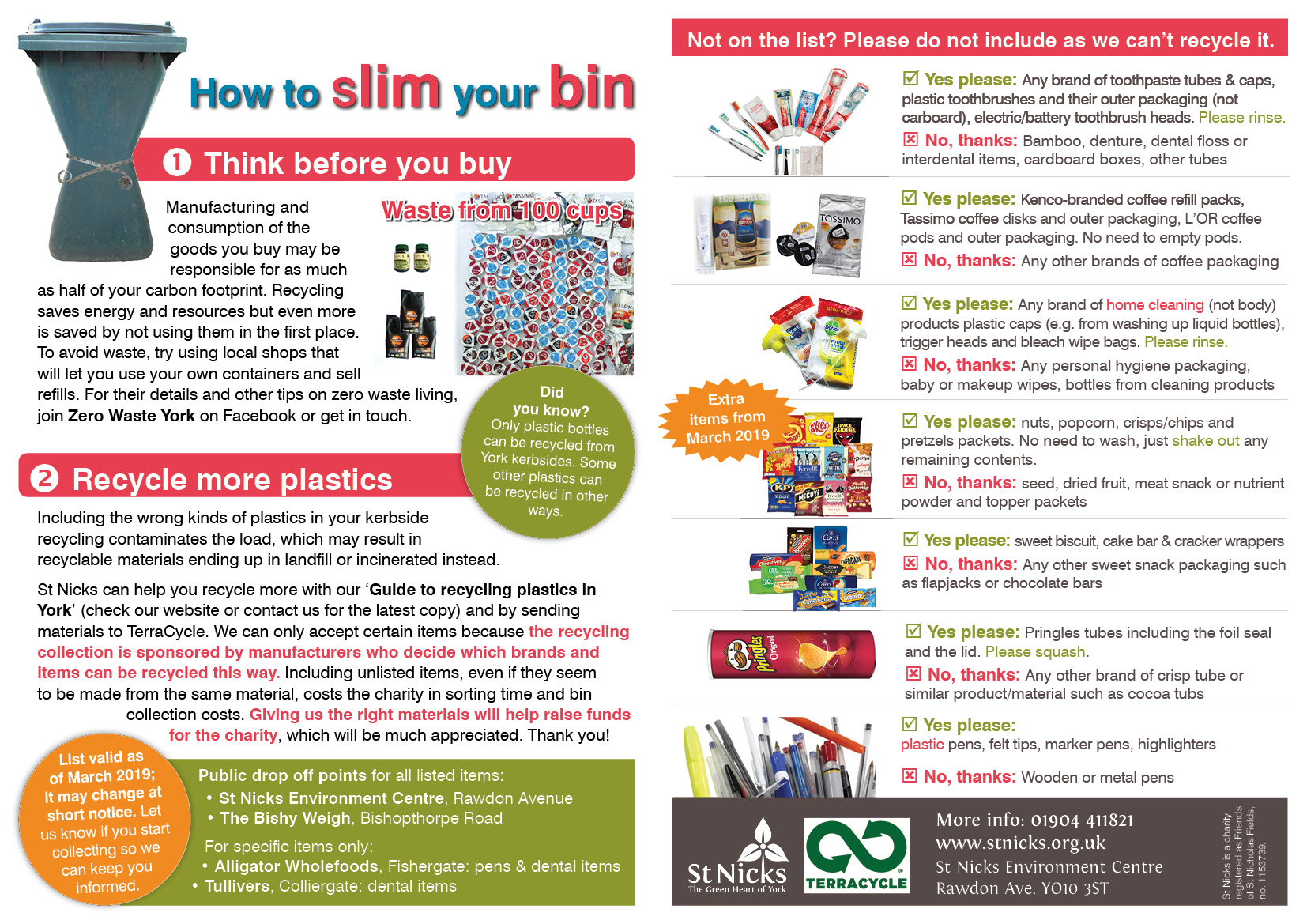 TerraCycle recycling fliers March 2019