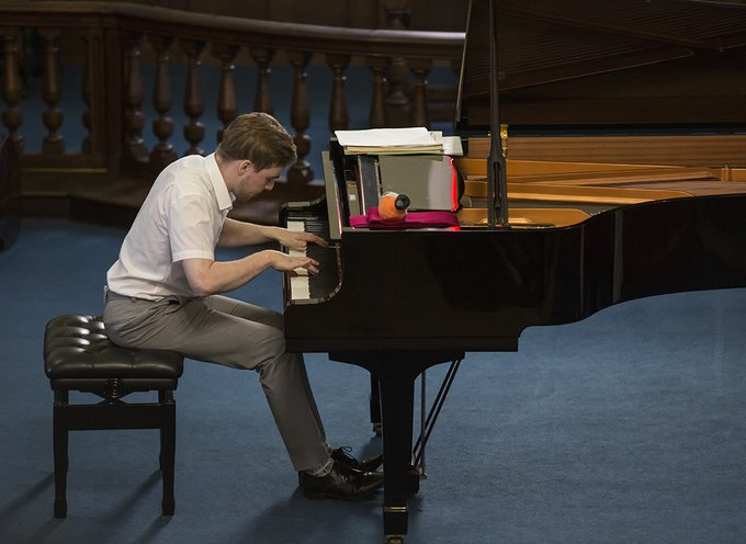 Summer Concert pianist Matthew Palmer, by L. Outing