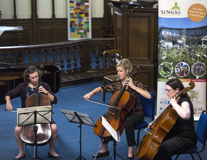 Summer Concert cellists Sarah Sigsworth, Frances Jones and Catherine Strachan (by Lewis Outing)