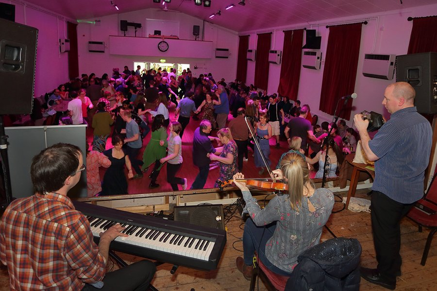 Ceilidh 2020 - band's view, by L. Outing