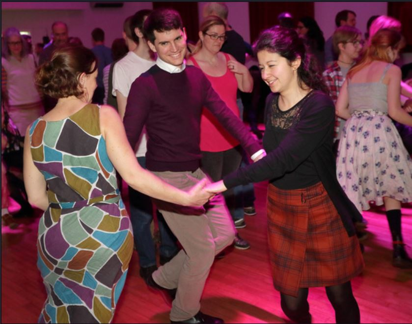 Ceilidh 2020 dancers, by L. Outing