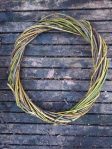 Willow stem frame for wreath