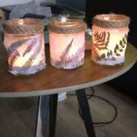 3 nature tealight holders