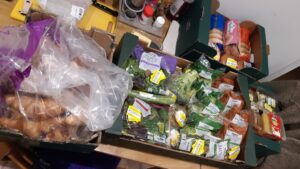 Through the OLIO app Tiphaine's volunteered to redistribute surplus food from Tesco to those in need.