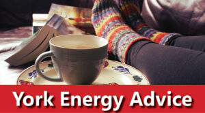 York Energy Advice banner - feet next to a cuppa